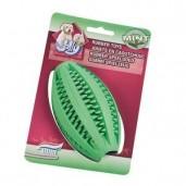 Hračka guma Rugby na čištění zubů s mátou Jolly 11,5 x 6,5 cm