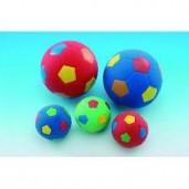 Hračka latex Míč fotbalový velký barevný Nobby 12 cm