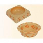 Miska keramická Nobby - hranatá oranžová 17,5 cm
