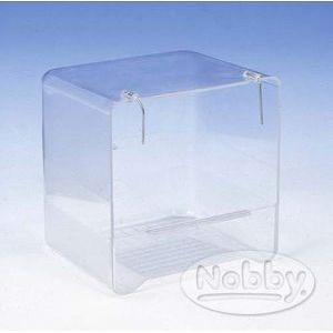 Koupelna plast Nobby - hranatá průhledná 13 x 11 x 13 cm