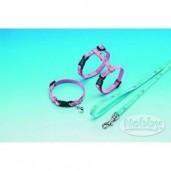Postroj kitten nylon s vod. - modrý Nobby 15 - 22 x 20 - 32 cm, 120