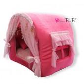Pelíšek pro psy domeček Princess Pretty Pet růžový