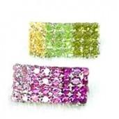 Sponka pro psy Rainbow s krystaly Swarovski zelená