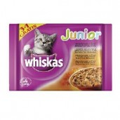 Whiskas kaps. Junior - Menu ve šťávě 4x0,1kg
