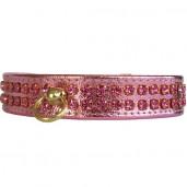 Obojek pro psy luxury Pink