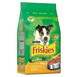 Krmivo Friskies dog dry Mini Menu - drůbeží 1,5kg