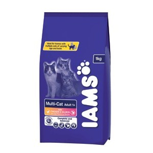 Krmivo Iams Multi-Cat Salmon 1,5kg